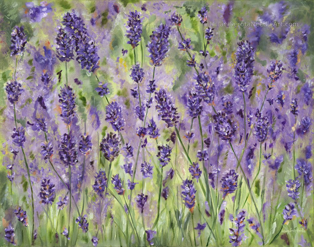 Painter Hillary Needle's high-resolution digital image 'East End Lavender,' scanned by Chica Prints